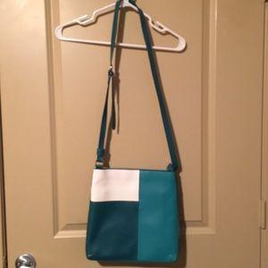Vera Bradley leather cross body purse